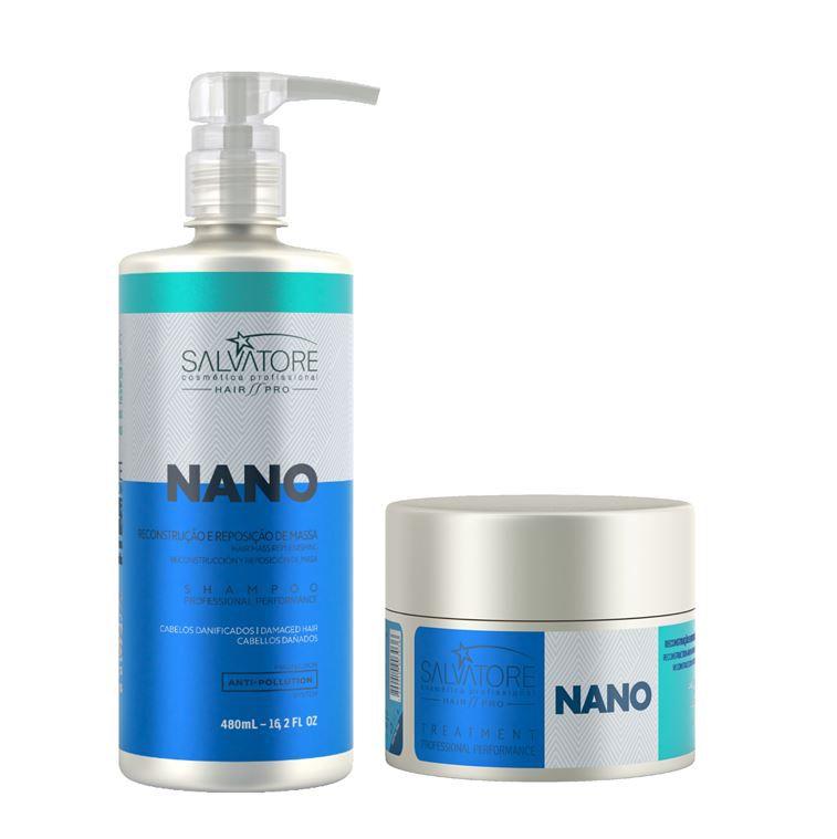 Kit Nano Reconstrutor Shampoo + Condicionador Salvatore