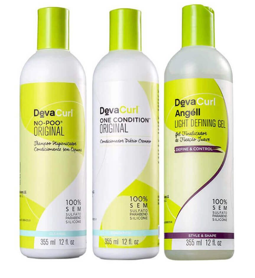 kit No Poo + One Condition + Angell - Deva Curl 3 x 355ml