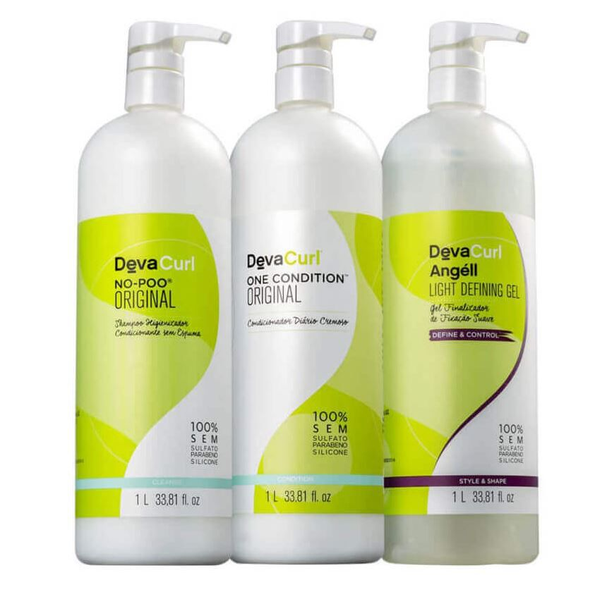 Kit No Poo - One Condition - Angell - Deva Curl 3x1L