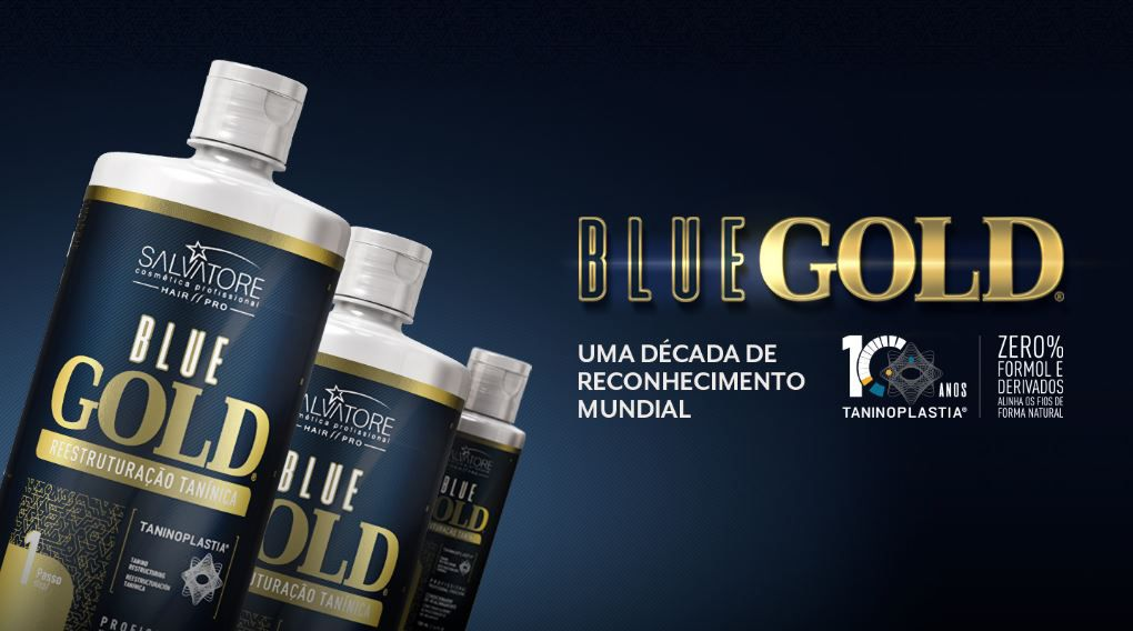 Progressiva Shampoo + Condicionador Alisante Blue Gold 1000 ml