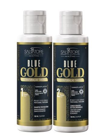 Kit Shampoo + Condicionador Alisante Blue Gold 100 ml
