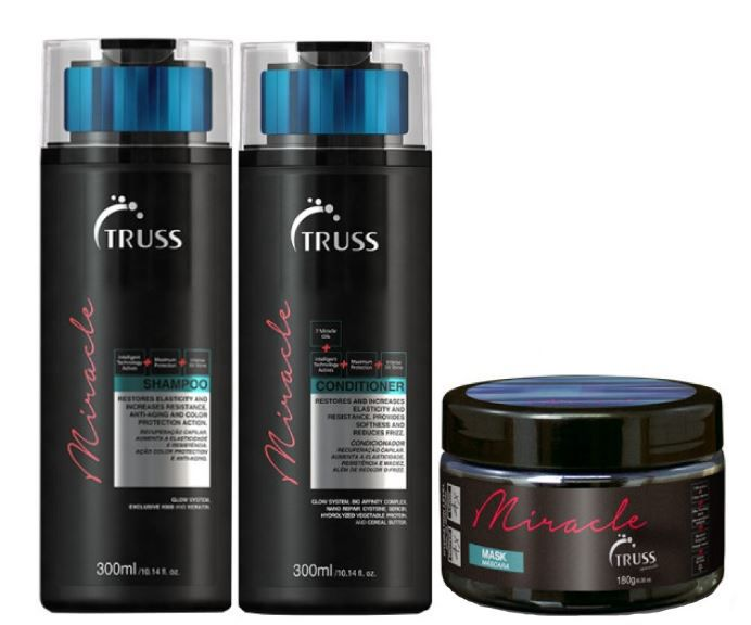 Kit Shampoo + Condicionador + Máscara Miracle TRUSS