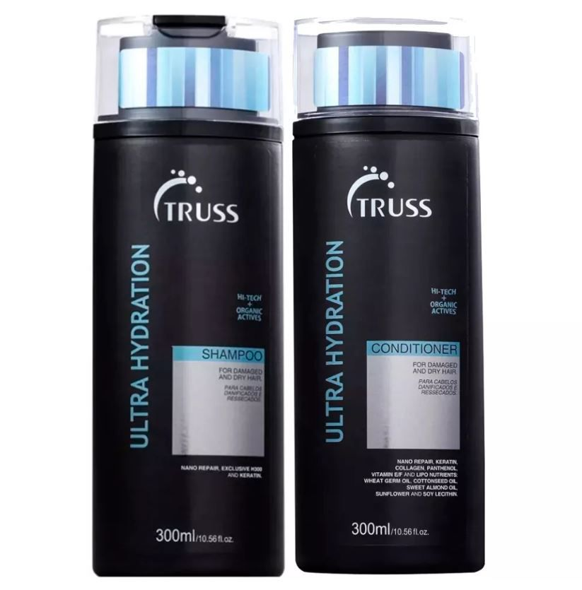 Kit Shampoo + Condicionador Ultra Hydration  TRUSS 2 x 300 ml