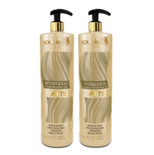 Kit Shampoo e Máscara Capilar Hidratante Verniz - SoupleLiss 2x1000ml