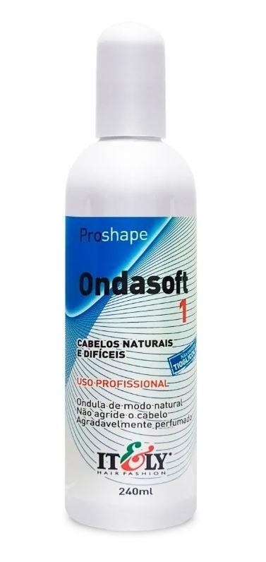 Líquido Permanente Modelador de Cachos Ondasoft N° 1 Cabelos Naturais e Difíceis Itely 240ml