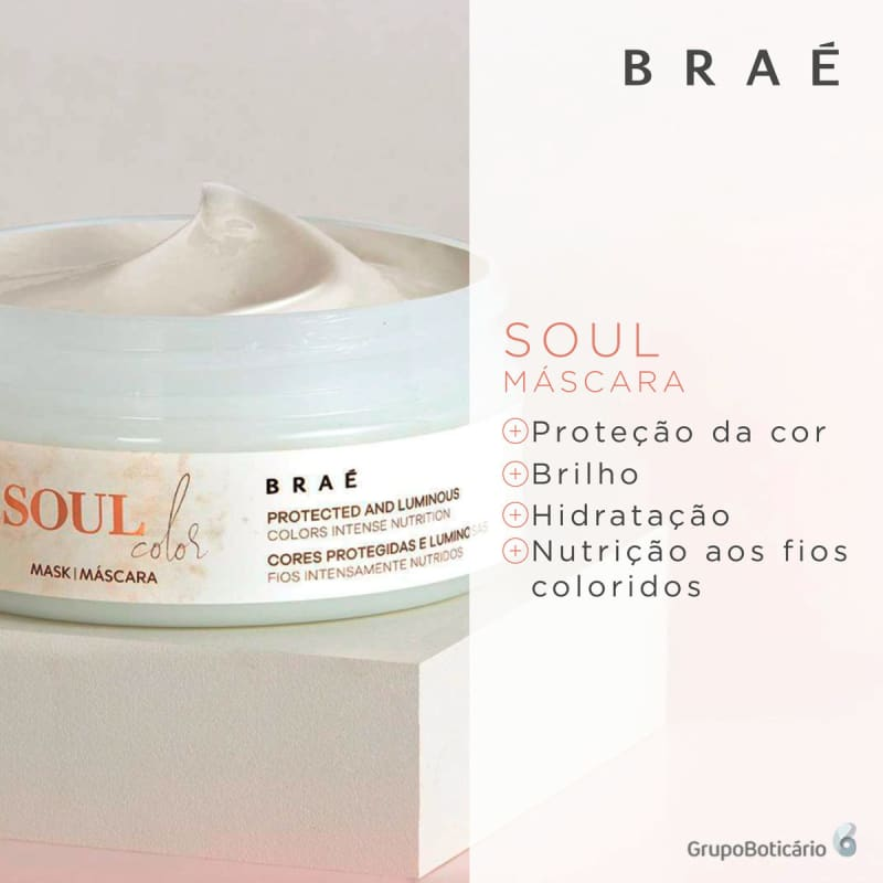 Máscara Capilar Soul Color BRAÉ 200g