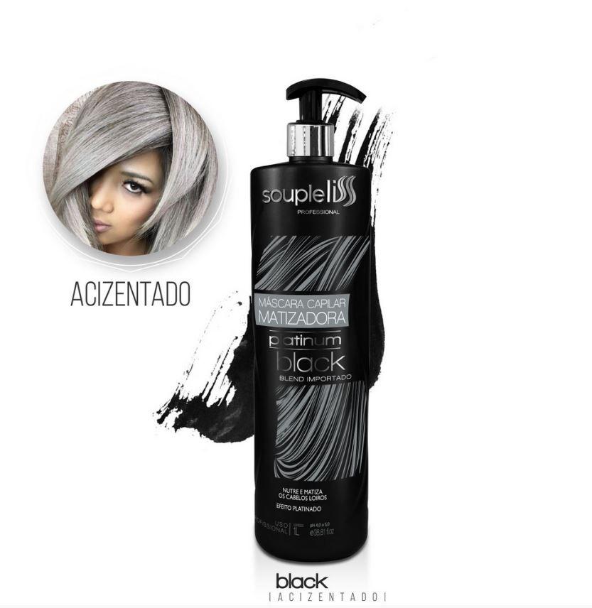 Máscara Matizadora Platinum Black - SoupleLiss 1L