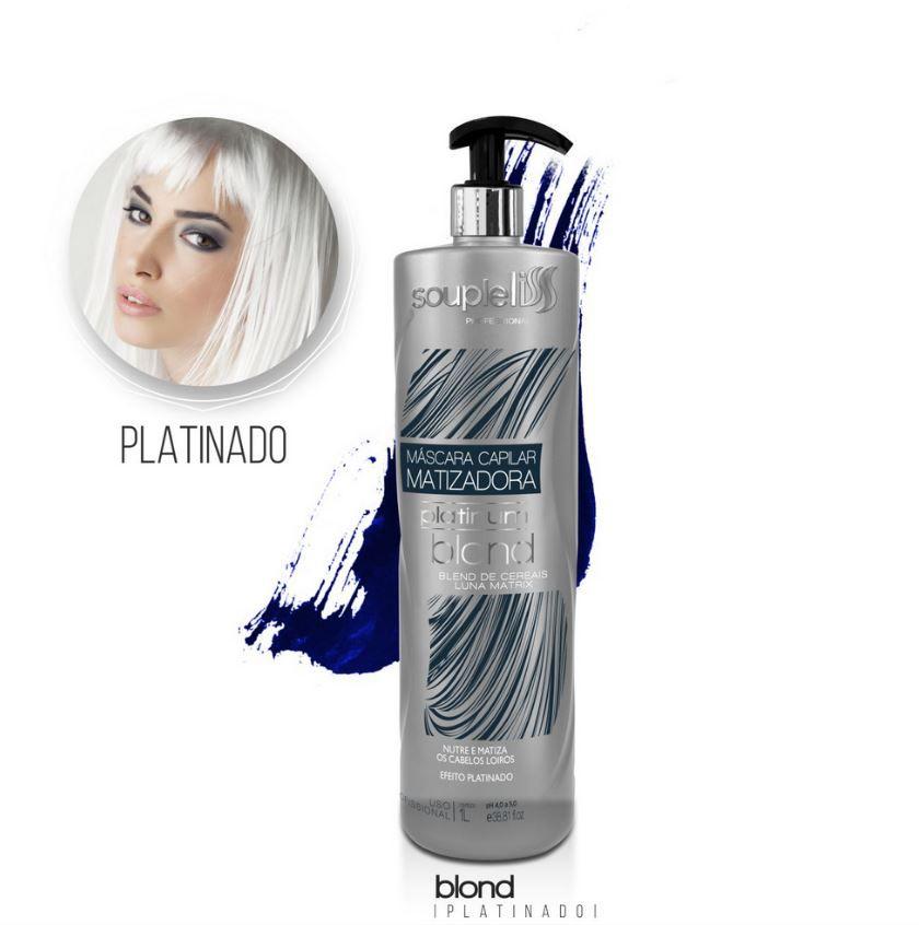 Máscara Matizadora Platinum Blond - SoupleLiss 1L