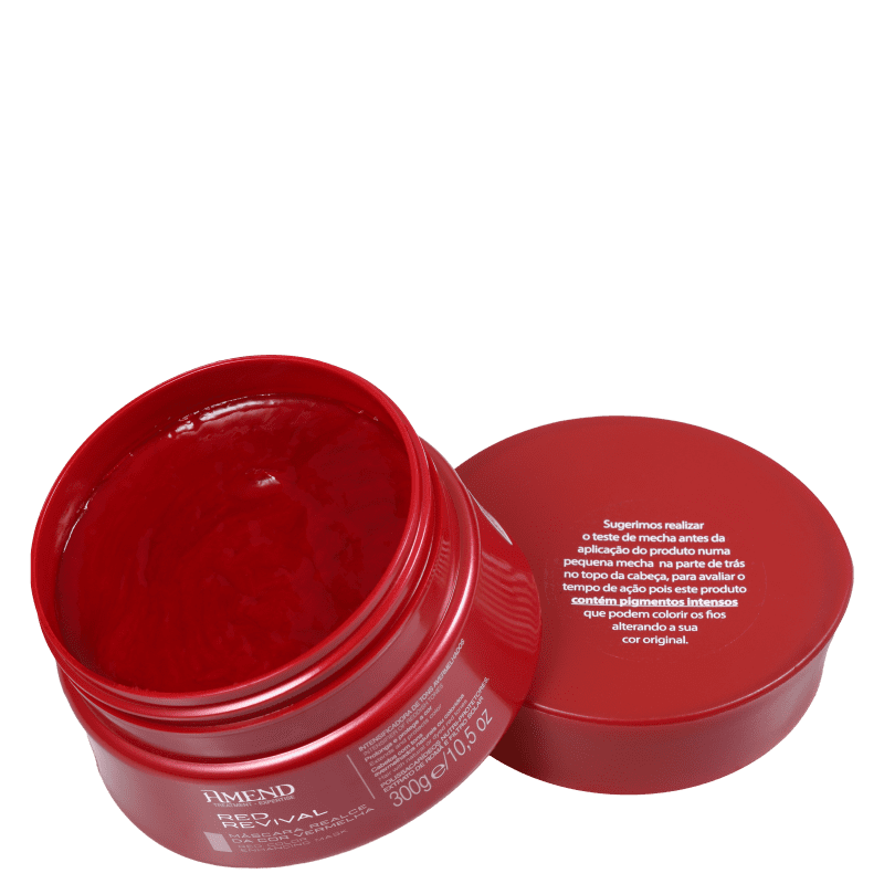 Máscara Realce da cor Vermelha Red Revival Amend 300g