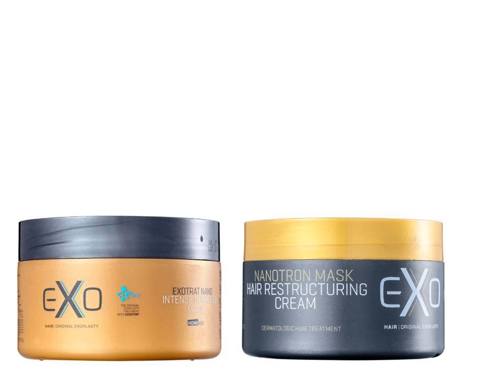 Máscaras Reconstrutora e Máscara Nutrição 250g - Exo Hair