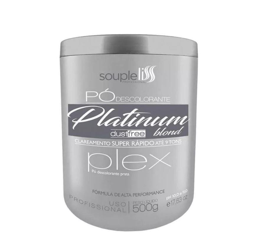 Pó Descolorante Platinum Blond - SoupleLiss  500G