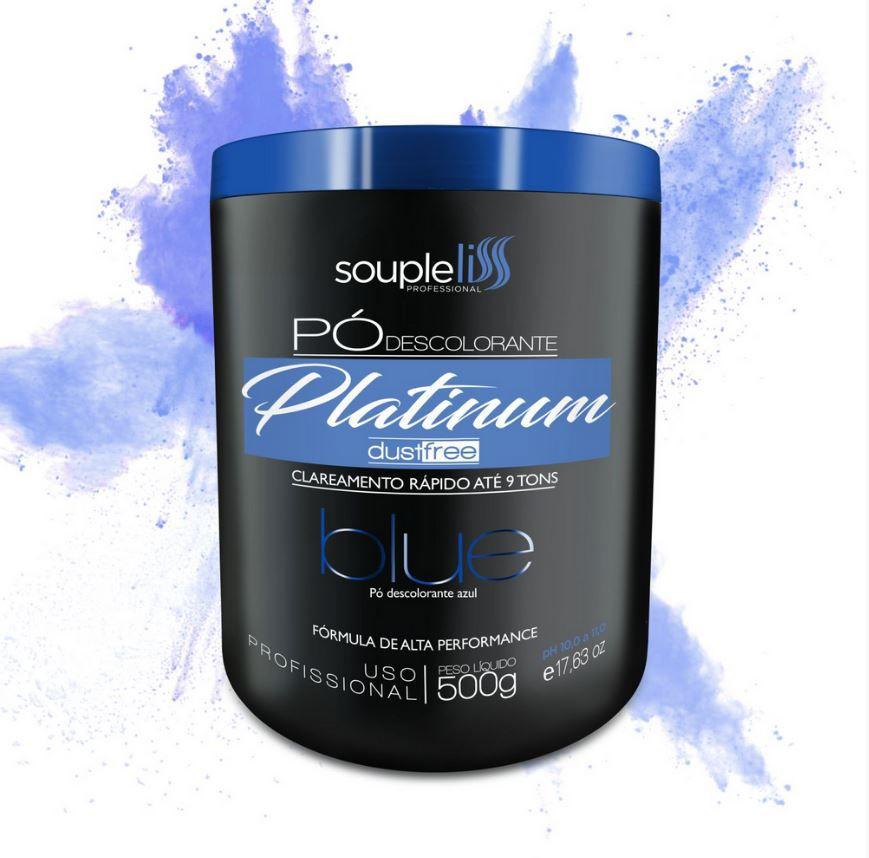 Pó Descolorante Platinum Blue - SoupleLiss  500G