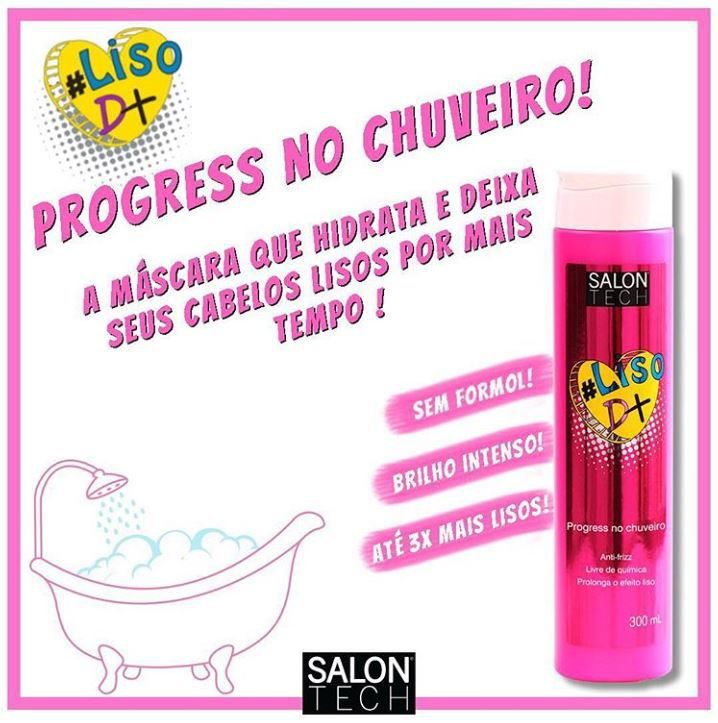 Progressiva no Chuveiro #LisoD+ Salon Tech 300 ml