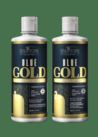 Progressiva Shampoo + Condicionador Alisante Blue Gold  500 ml