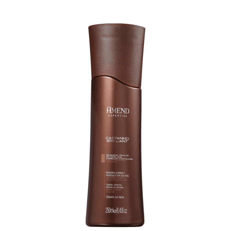 Shampoo Realce da cor Castanho Amend 250ml