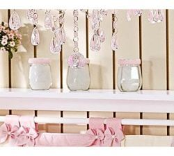Conjunto de 03 Potes de Vidro Enfeitados - Coleção Florence Kids