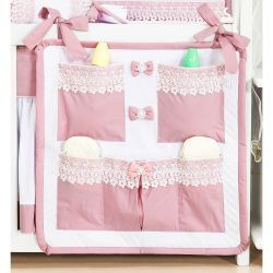 Porta Treco para Bebê - Coleção Belle Rosé - Rosé