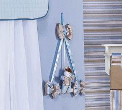 Enfeite de Porta 100% Algodão - Coleção Baby Kids - Azul