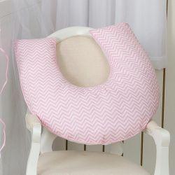 Apoio para Amamentar Bebê Coleção Coroinha Rosa 180 Fios