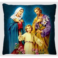 Capa para Almofada Estampada Imagem Tecido Microfibra - Sagrada Família A161