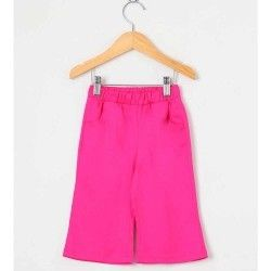 Calça Lisa Longa 01 Peça Com Bolso Frontal - Pink Tamanho 03