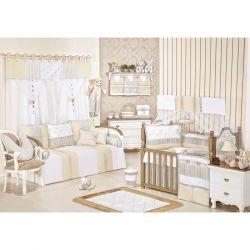 Coleção Completa para Quarto de Bebê Capricho100% Algodão - 24 Peças