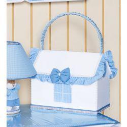 Farmacinha Enfeitada p/ Quarto de Bebê - Coleção Classic Azul