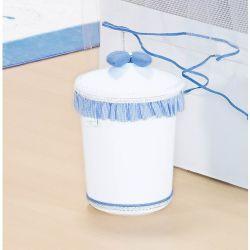 Lixeira Enfeitada p/ Quarto de Bebê - Coleção Classic Azul