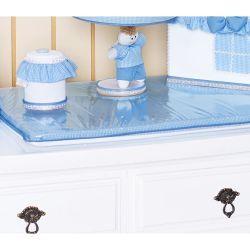 Trocador Avulso de Espuma Plastificado Coleção Classic Azul
