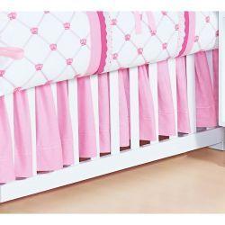Saia Para Berço 02 Lados Coleção Classic Rosa 100% Algodão