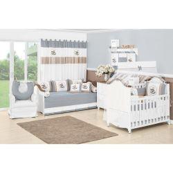 Coleção Completa para Quarto de Bebê Coleção Cavalinho 18 Peças - Azul