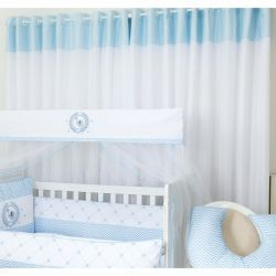 Cortina para Quarto de Bebê 2 Metros x 1,60 Metros Alt. Coleção Elefante Azul