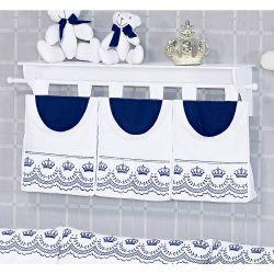 Porta Fraldas de Varão - Coleção Elegance Marinho