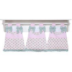 Porta Fraldas de Varão para Quarto Bebê Coleção Baby Florence - Rosa