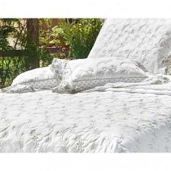 Kit de Almofadas Decorativas Morana 02 Peças 100% Alg. 400 Fios - Branco
