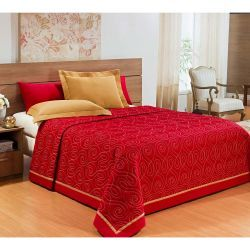 Cobre Leito Casal Queen Marrocos 03 Peças - Vermelho