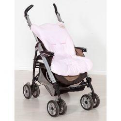 Capa de Carrinho para Bebê Coleção Lacinhos Baby - Rosa