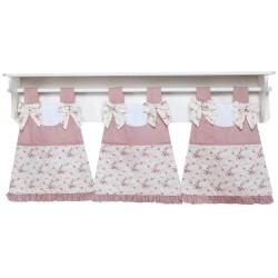 Porta Fraldas de Varão para Quarto Bebê - Coleção Nina Camponesa