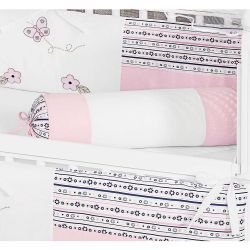Rolinho Avulso para Quarto de Bebê Coleção Ursa Flores - Rosa
