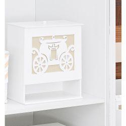 Porta Fraldas de Madeira para Bebê Coleção Royalty Caqui