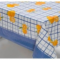 Toalha de Mesa Anti Térmica Retangular Estampada 1,50m x 1,40m - Laranja