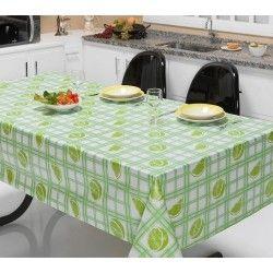 Toalha de Mesa Anti Térmica Retangular Estampada 2,00m x 1,40m - Limão