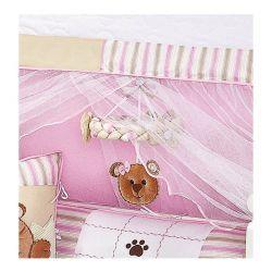 Móbile para Berço de Bebê Coleção Ursa Nina - Rosa