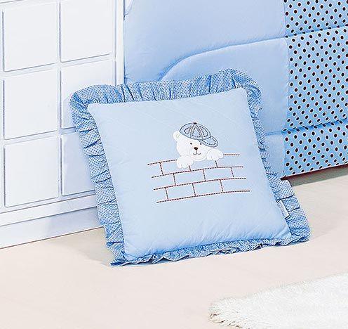 Almofada Bi Cama - Cole��o Urso Soninho - Azul