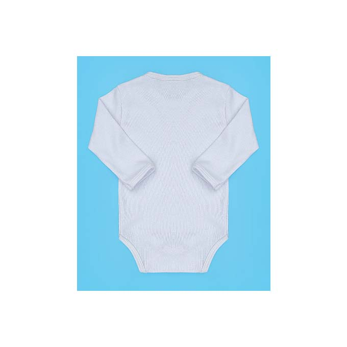 Body para Bebê Liso Tecido Malha - Branco - M
