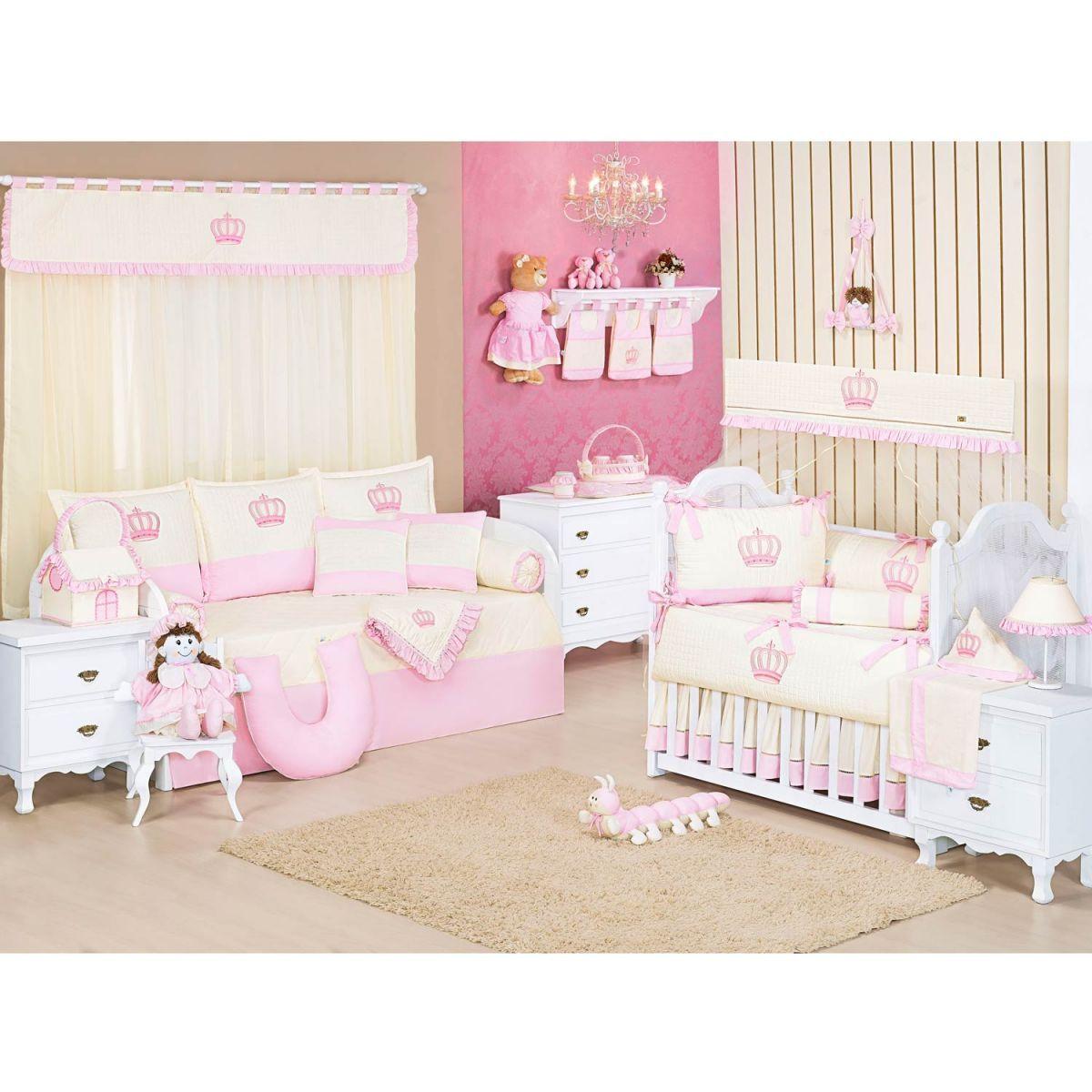 Rolinho Avulso para Quarto de Bebê Coleção Realeza Rosa