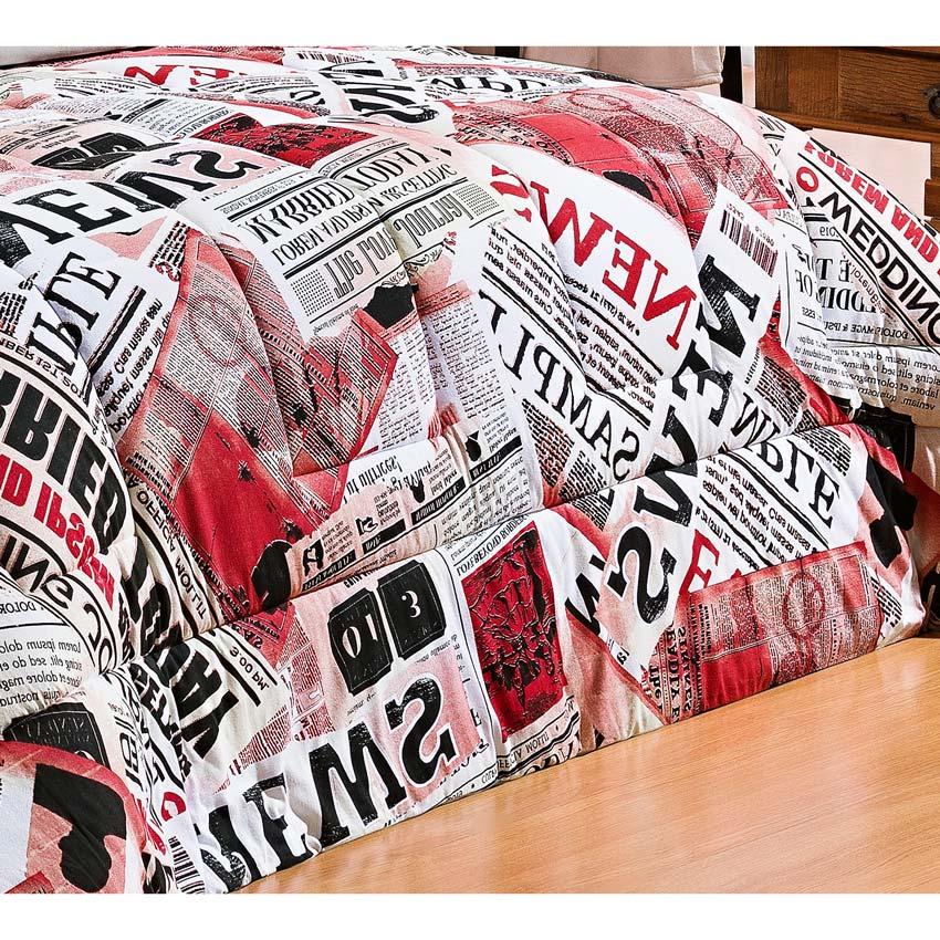 Edredom Casal King Safari 01 Peça Estampado DF Malha Penteada - Jornal Vermelho