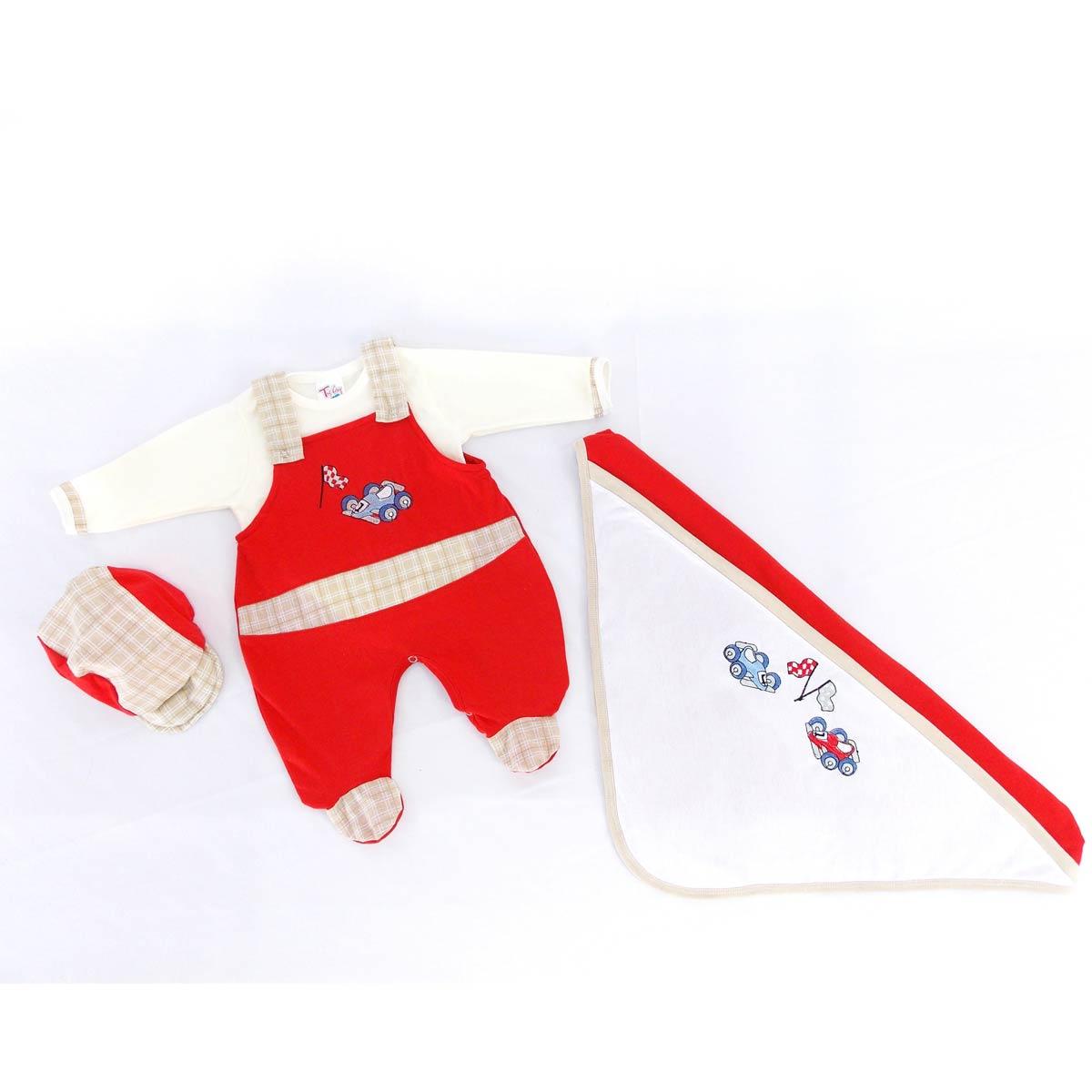 Saida Maternidade Carrinho - Tecido Malha - Vermelho - RN