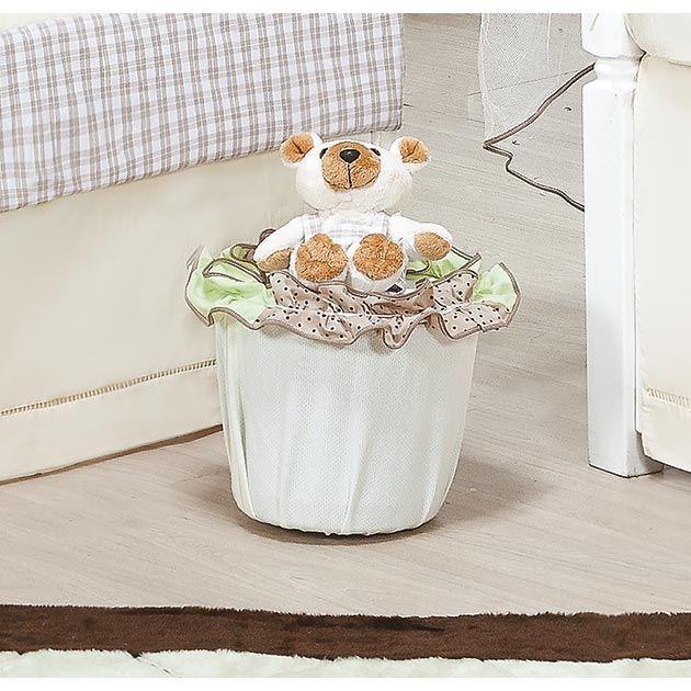 Lixeira Enfeitada - Coleção Urso Baby