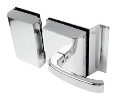 Fechadura AGL Porta de vidro c/ rasgo, 2 folhas  abertura externa.- PVR2E